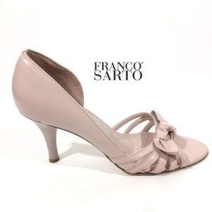 Franco Sarto | Blush/Pale Pink Bows Kitten Heel 9